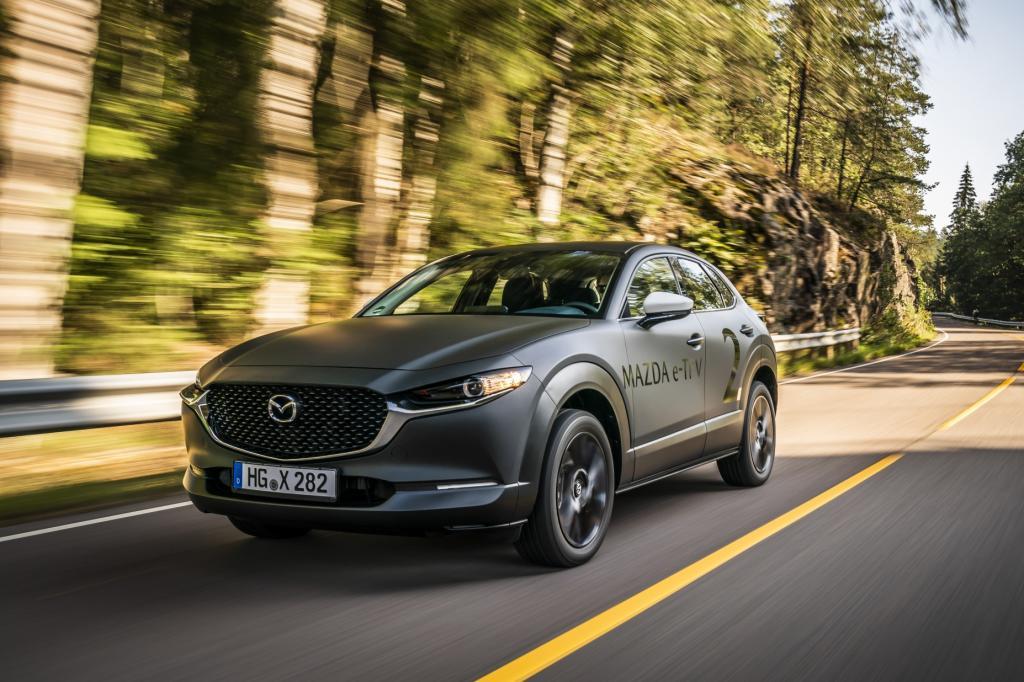 Wat is er opvallend aan de elektrische Mazda e-TPV?