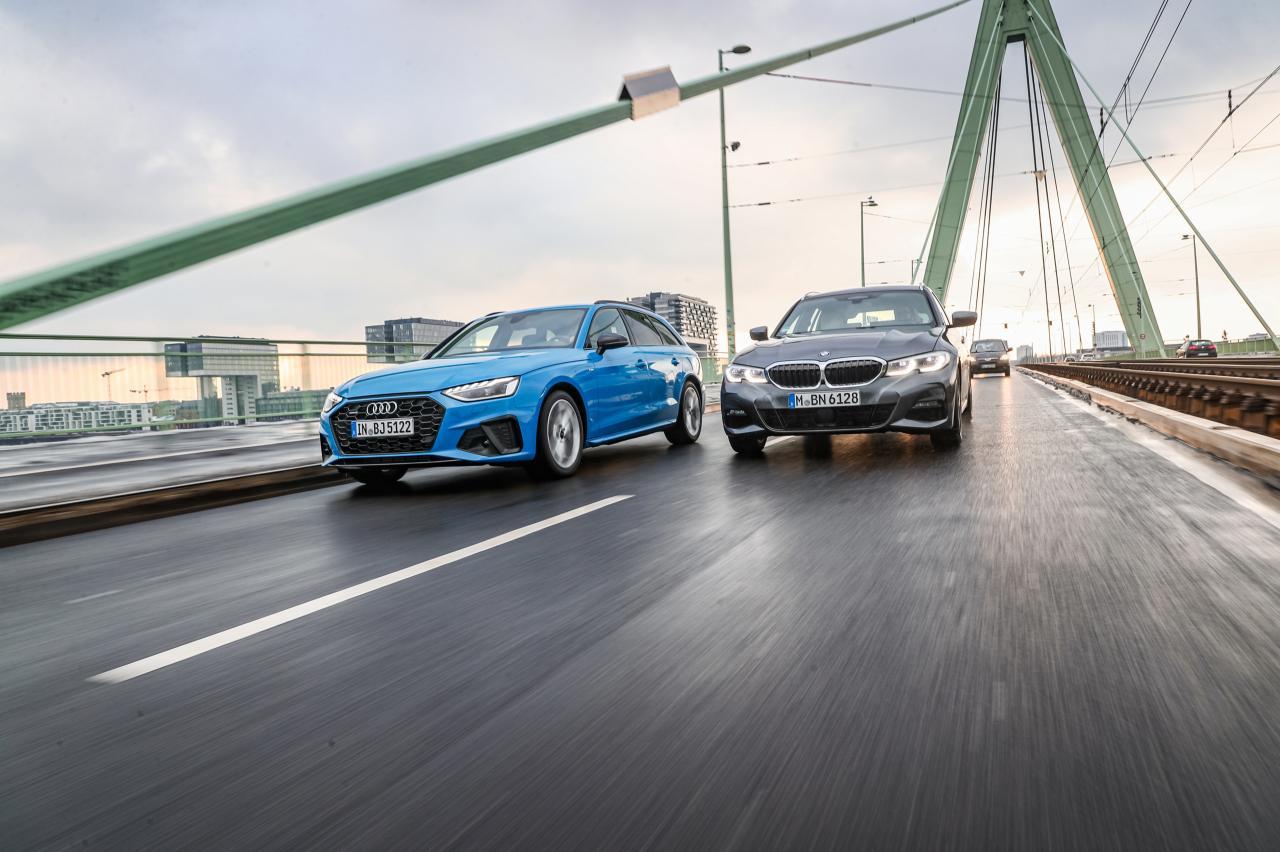 Test Audi A4 Avant en BMW 3-serie Touring: goedkoop is anders, maar lekker dat ze zijn!