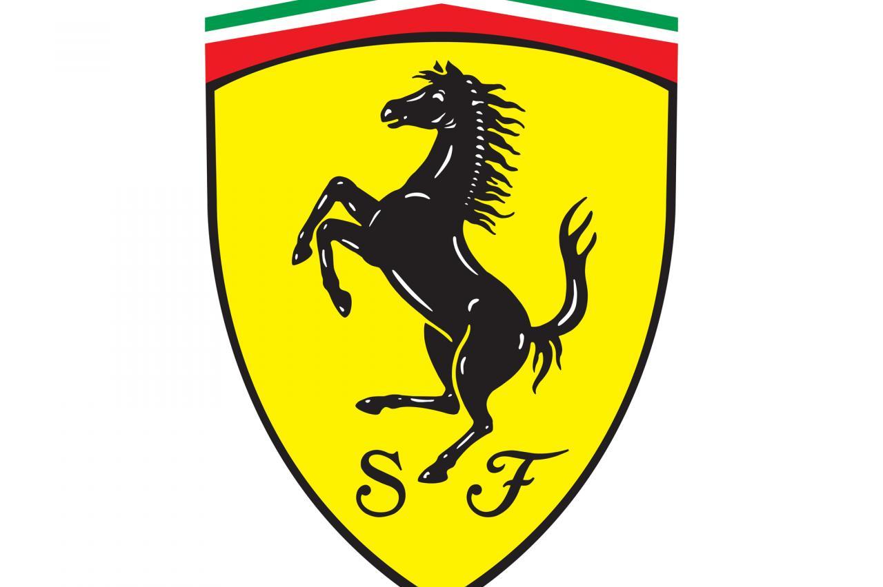 Het Ferrari-logo is letterlijk uit de lucht komen vallen