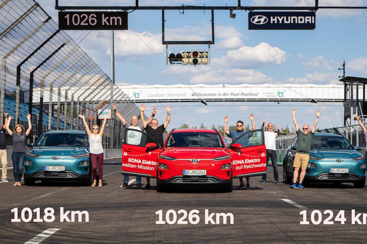 Nee! De Hyundai Kona Electric haalt geen bereik van 1000 km