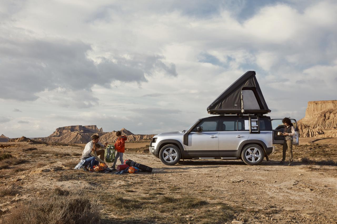 Je kunt nu slapen bovenop je Land Rover Defender