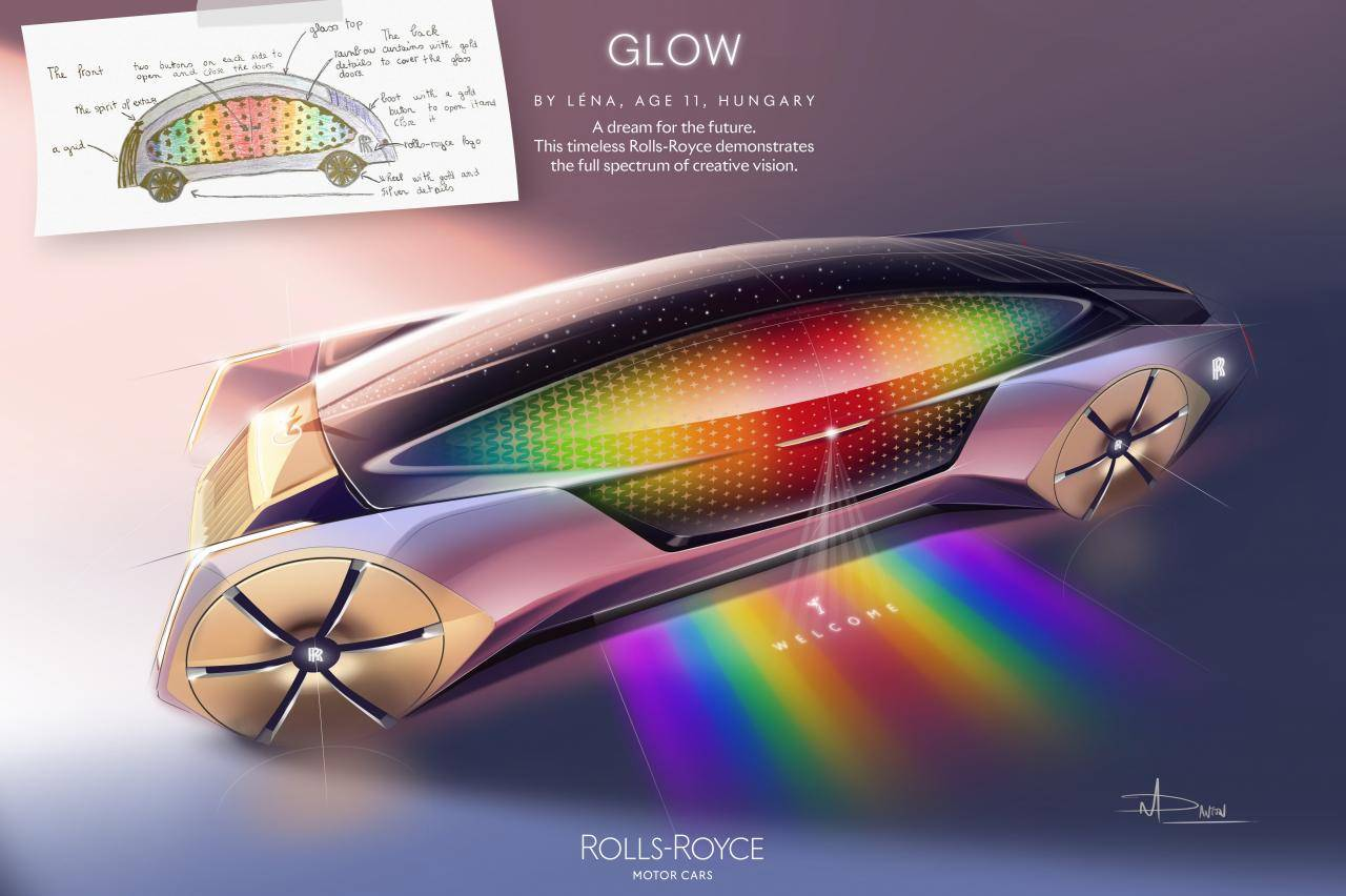 Dit krijg je als je kinderen een Rolls-Royce laat tekenen