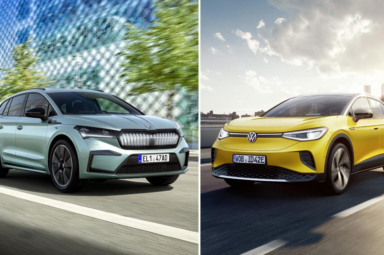 Skoda Enyaq iV al snel 3000 euro duurder dan Volkswagen ID.4