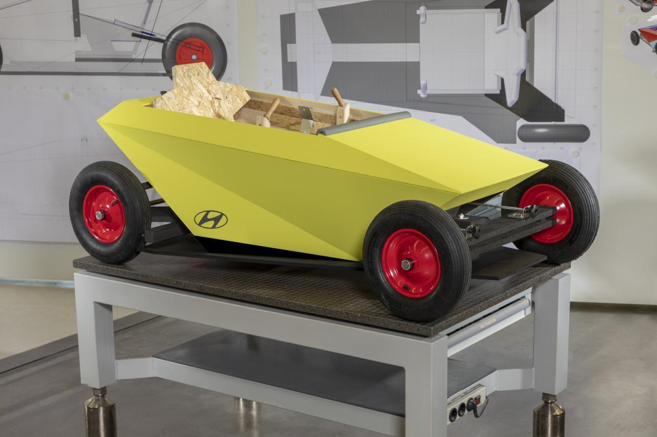 Doe-het-zelf project: timmer en schroef deze Hyundai Soapbox in elkaar