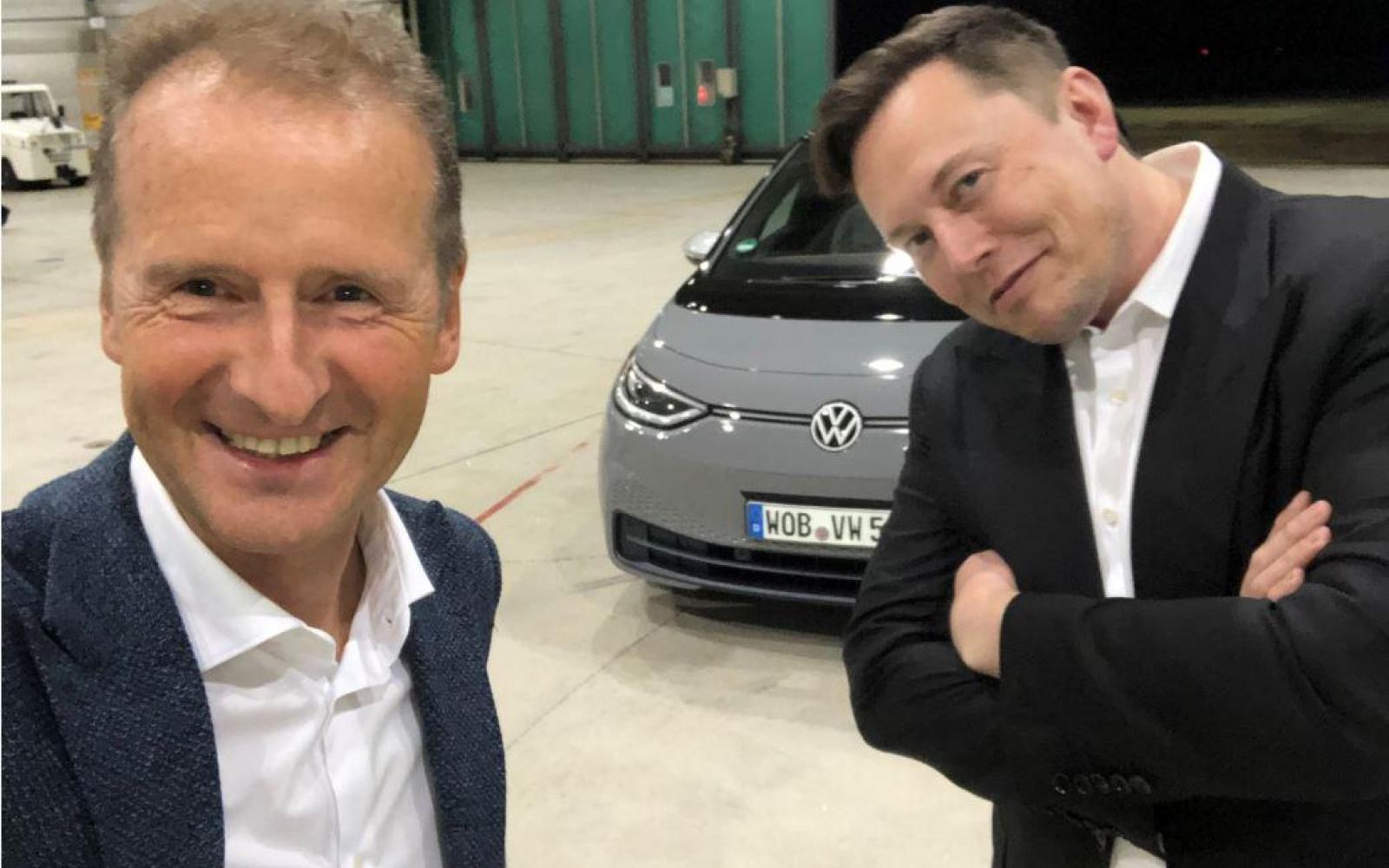 Tesla-topman Elon Musk geeft Volkswagen ID.3 een onpliment