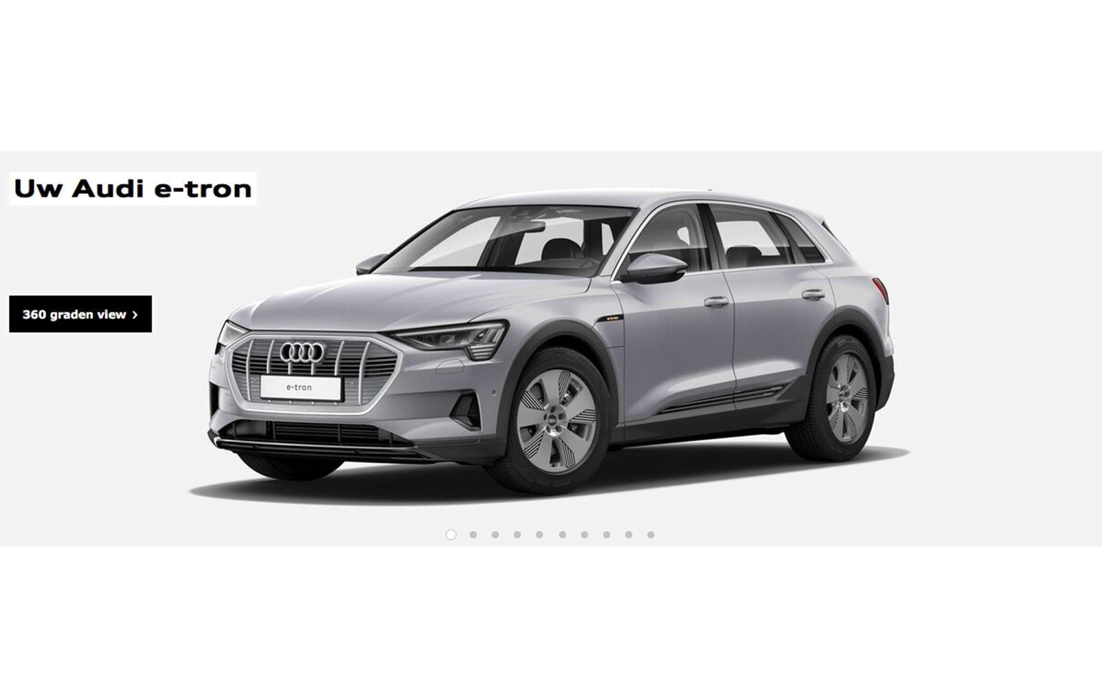Audi E-tron online configurator