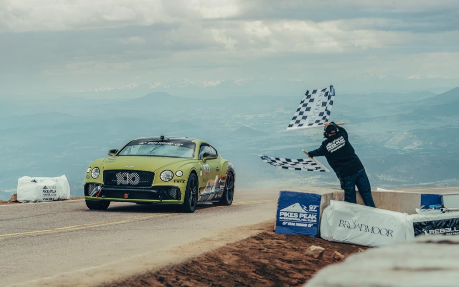 Klimgeit Bentley Continental GT pakt Pikes Peak-record