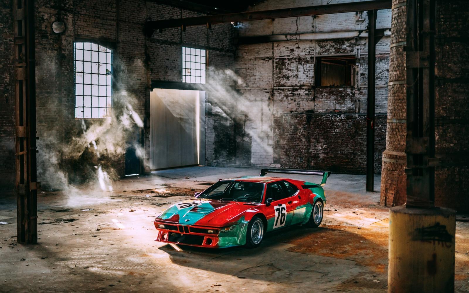 Smullen: mooie plaatjes van de BMW M1 Art Car by Andy Warhol