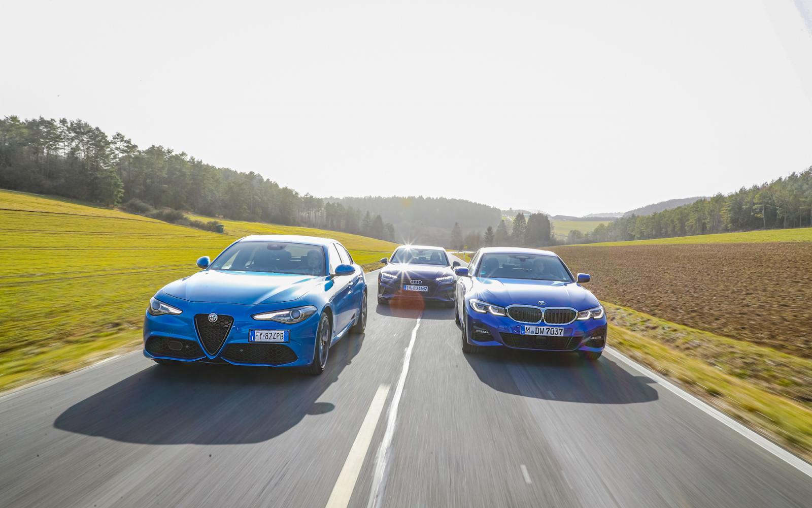 Test Giulia, A4 en 3-serie: goedkoop zijn ze niet, dus mag je wel iets terug verwachten