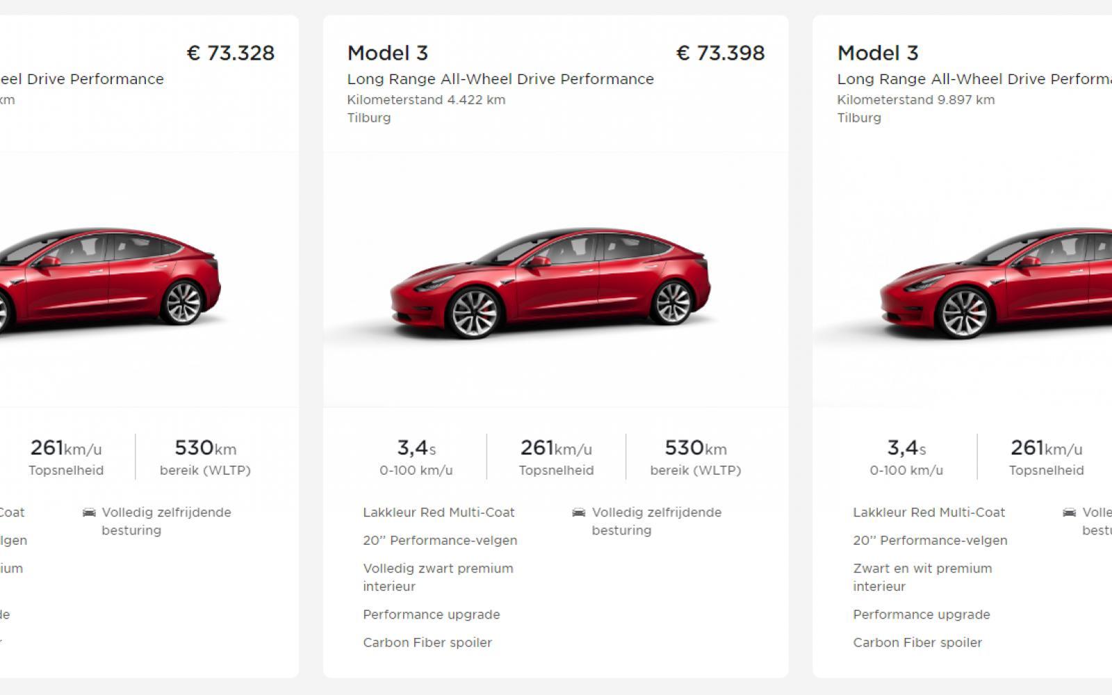 Goed nieuws: er zijn nog Tesla's met 4 procent bijtelling