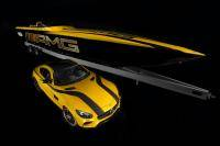 Mercedes-AMG GT S meets powerboat met 1.550 pk