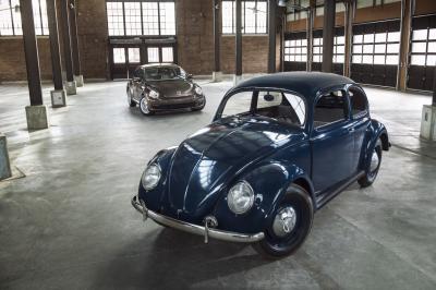 Fantastische fotogalerie Volkswagen Beetle uit 1949 & 2014