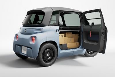 In de Citroën Ami Cargo kun je hooguit een tandenborstel en een vlaaidoos kwijt