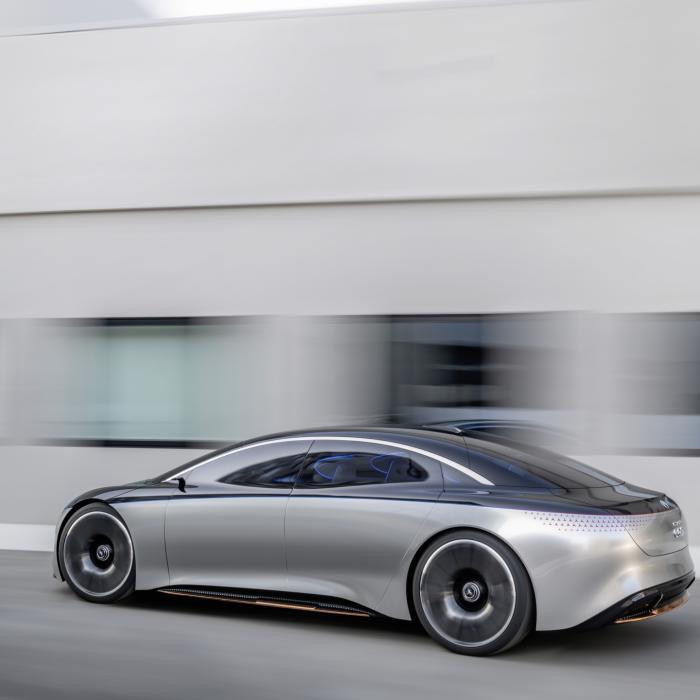 Mercedes luxe antwoord op de Tesla Model S: de Vision EQS