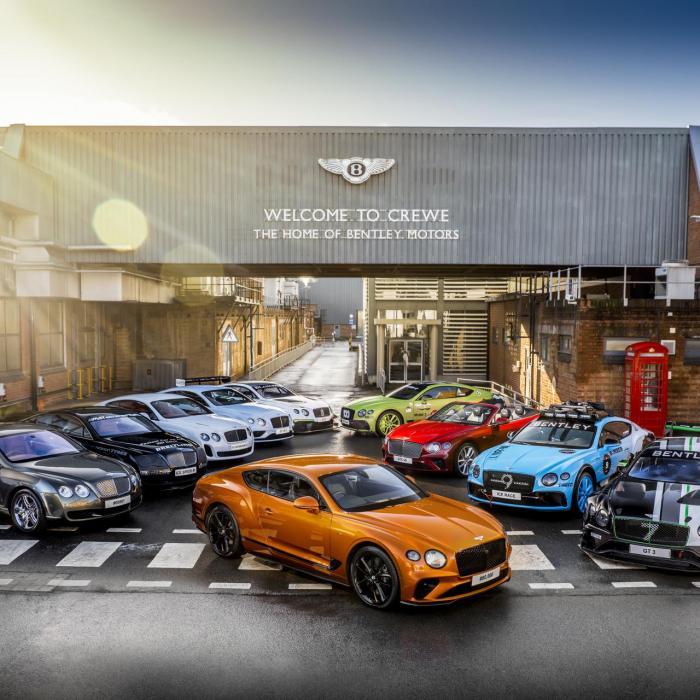 Bentley bouwt in 100 jaar net zoveel auto's als Toyota in 1 week