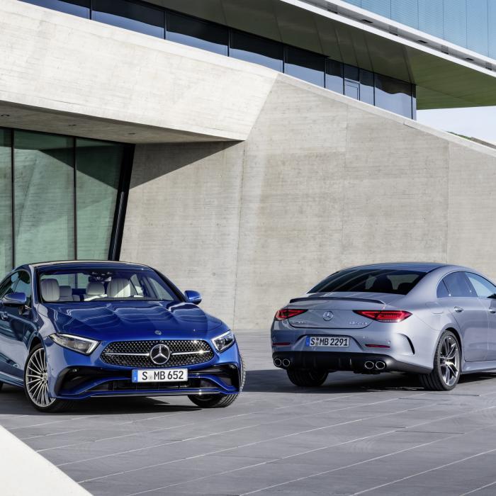 Kijk die Mercedes CLS toch eens gefacelift zijn!