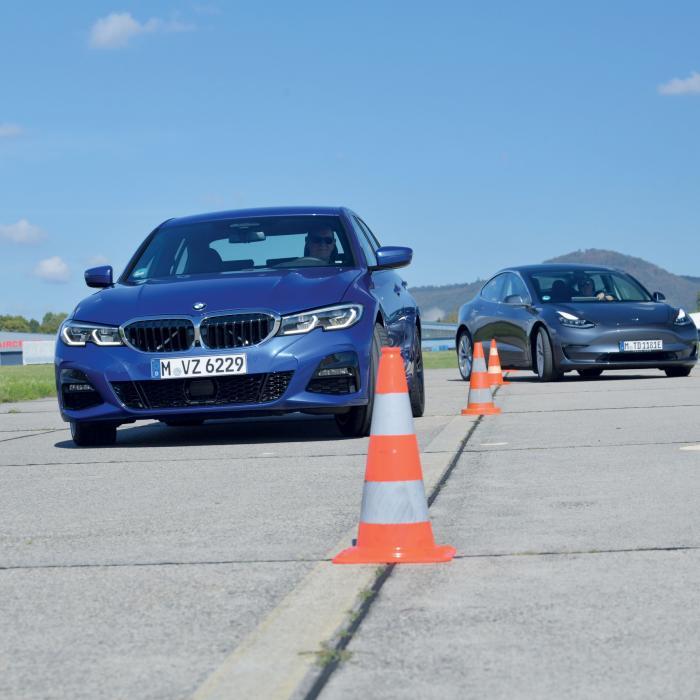 Test BMW 3-serie vs. Tesla Model 3: wat is de sportiefste zakensedan?