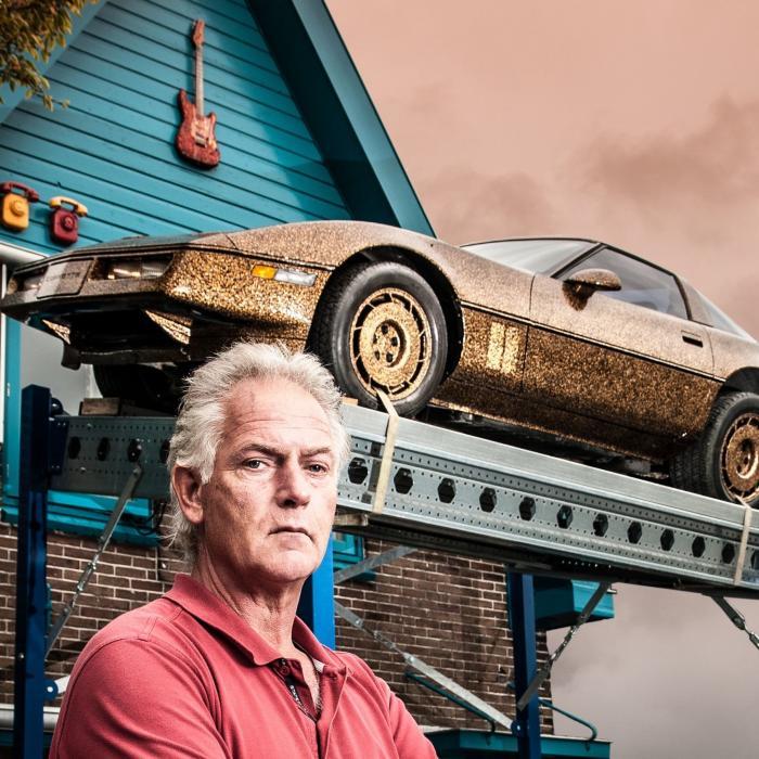 Te koop: 'Beruchte' Chevrolet Corvette van kunstenaar Frans