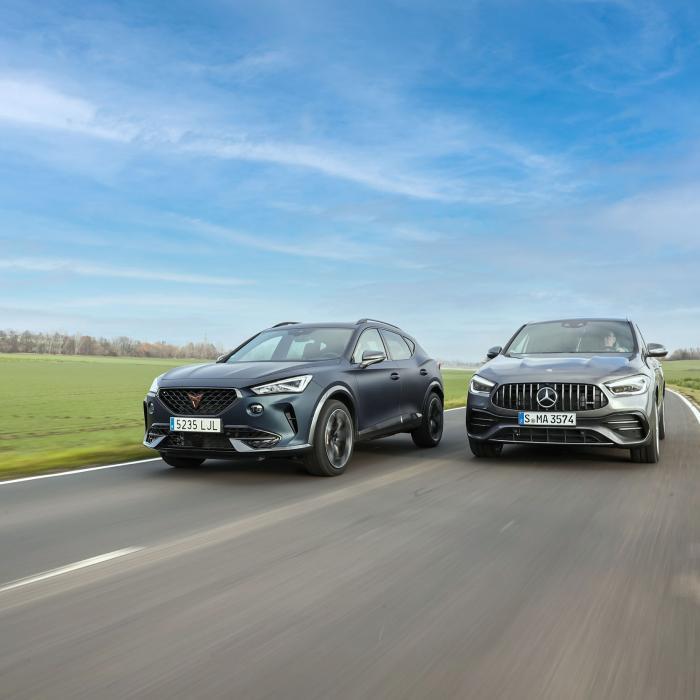 Test Mercedes-AMG GLA 35 en Cupra Formentor 310: waarom sneller niet altijd sportiever is