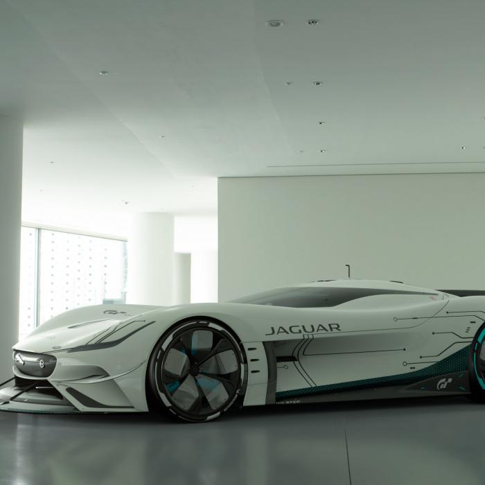 Iedereen kan deze Jaguar Vision Gran Turismo SV rijden!