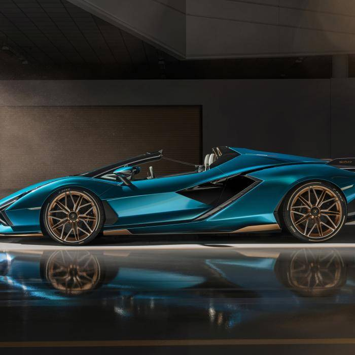 Van de Lamborghini Sián Roadster worden maar negentien stuks gebouwd