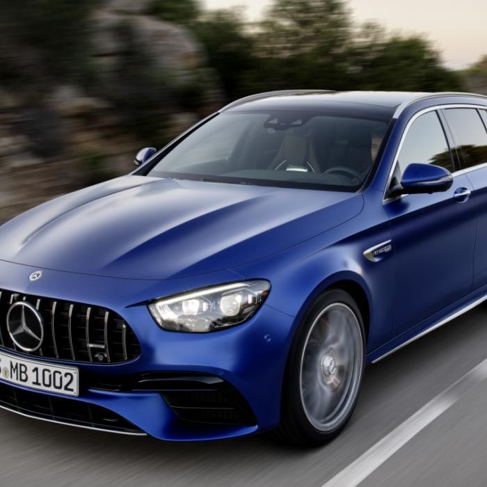 Ook de Mercedes-AMG E 63 4Matic+ kijkt nu sip