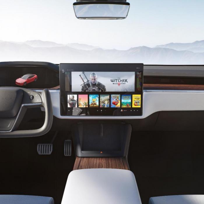Gaaf! Vernieuwde Tesla Model S heeft het KITT-stuur uit Knight Rider