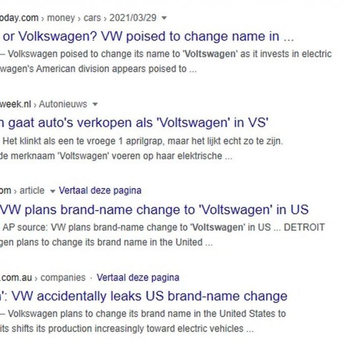 1 april, sjoemelsoftware in je bil! Wereldpers trapt in Voltswagen-grap van Volkswagen