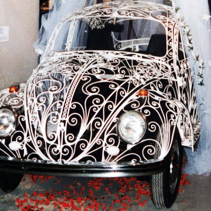 Corona-proof trouwauto: de Wedding Beetle