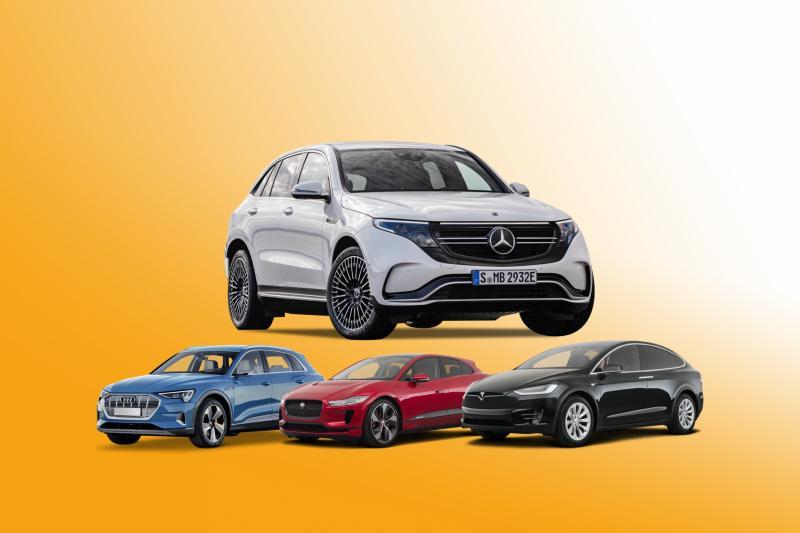 Prijsvergelijking: Mercedes EQC, Audi e-tron, Jaugar I-Pace, Tesla Model X