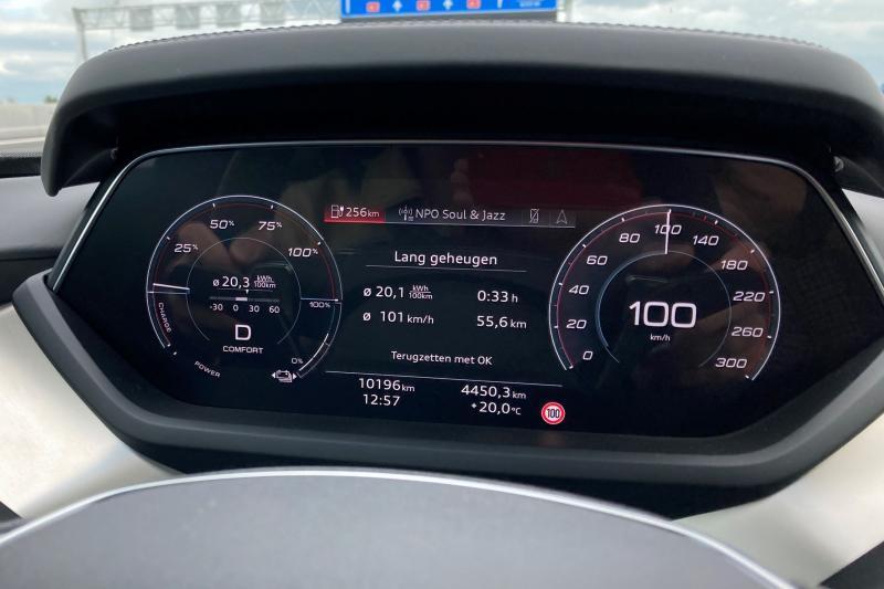 Audi E-Tron GT: actieradius gemeten bij 100 en 130 km/h