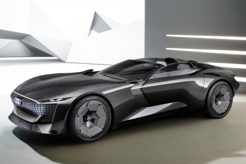 Die van de elektrische Audi Skysphere is 4,94 lang (maar kan uitschuiven)