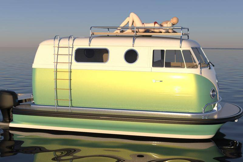 Is this an early April 1st joke?  No, you can just buy this sailing Volkswagen bus