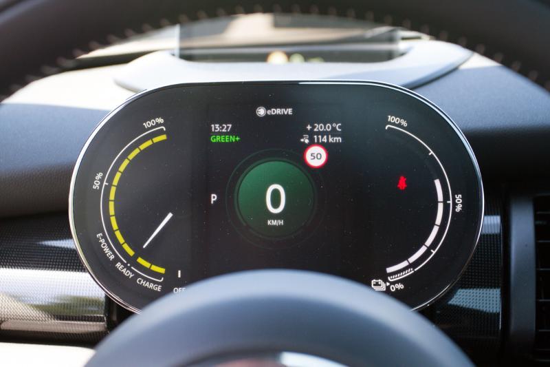 Mini Electric actieradius gemeten bij 100 km/h