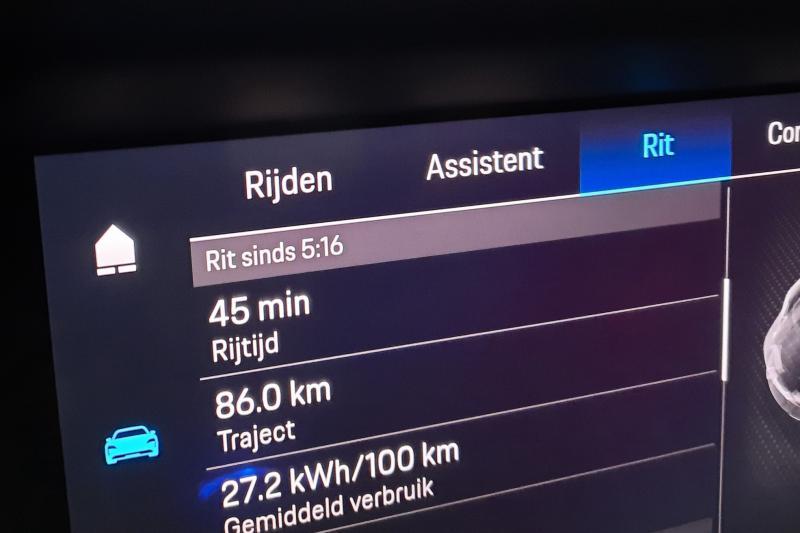 Porsche Taycan: actieradius gemeten bij 130 en 100 km/h