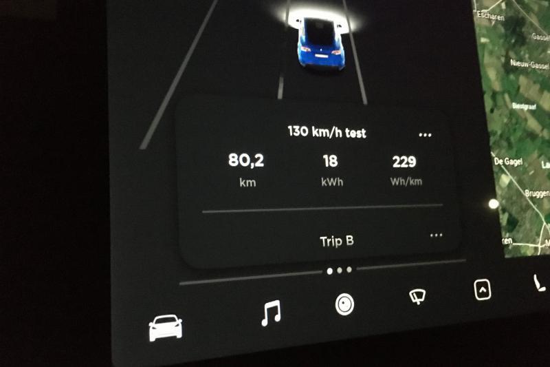 Tesla Model Y Long Range: rango medido a 100 y 130 km / h