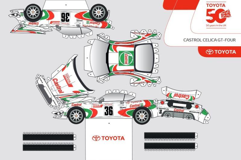Een, twee, drie, vier, Toyota GT86 van papier