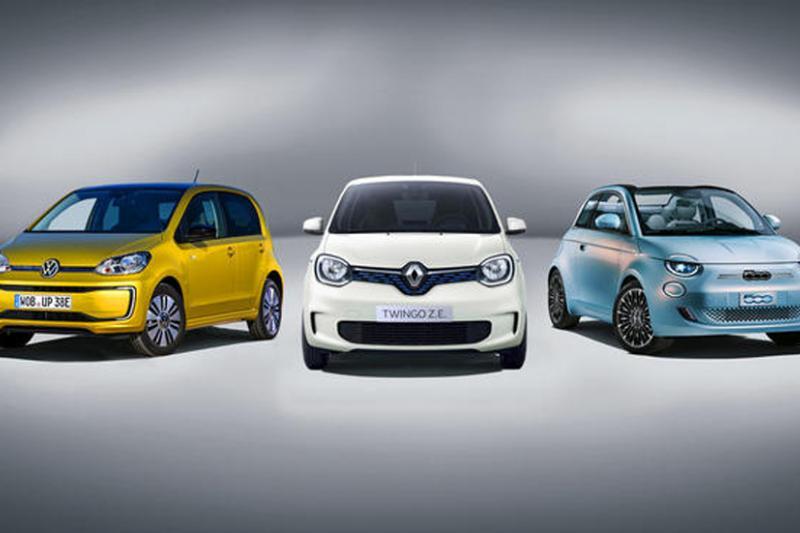 Elektrische auto vergelijken: Fiat 500e, Renault Twingo ZE en Volkswagen e-Up