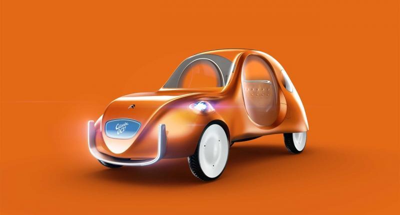 Nederlandse ontwerper tekent toekomstige Citroën 2CV
