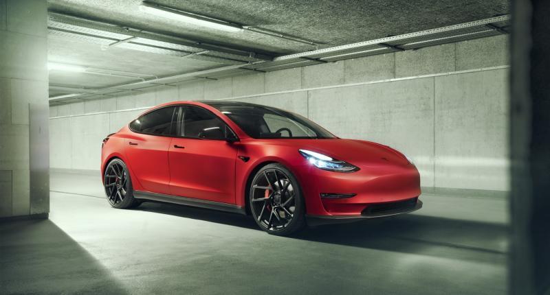 Novitec geeft Tesla Model 3 de Ferrari-behandeling