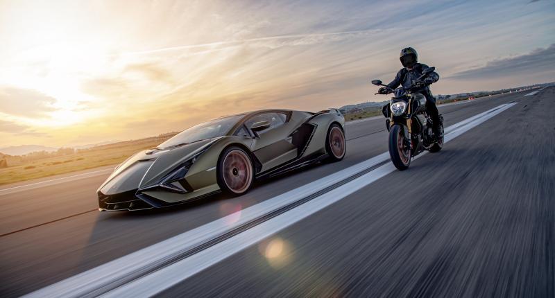 Kies maar: Lamborghini Sián of Ducati Diavel 1260 Lamborghini?