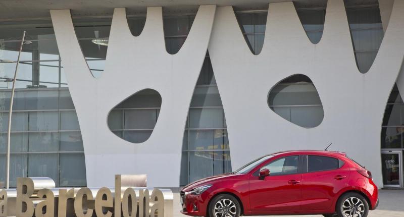 De nieuwe Mazda2 staat Barcelona goed