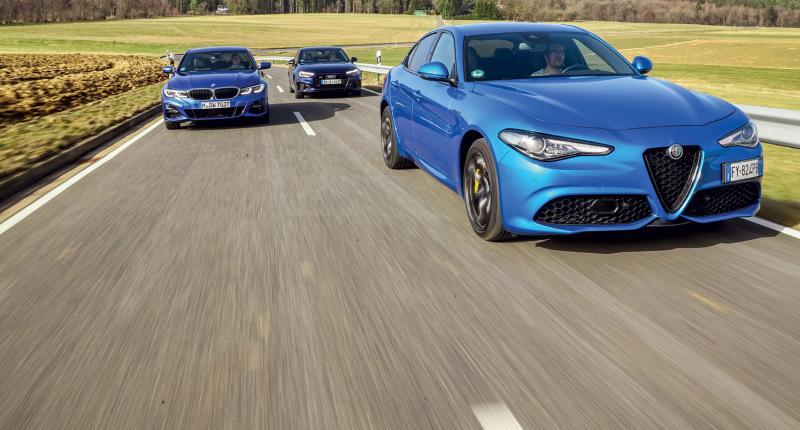 Test Giulia, A4 en 3-serie: waarom deze snelle sedans slecht zijn voor je bloeddruk