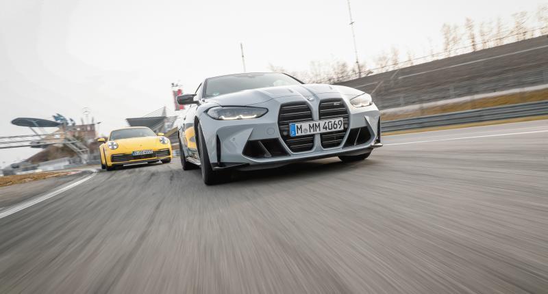 Test: zo maakt de nieuwe BMW M4 Coupé gehakt van de Porsche 911 Carrera S