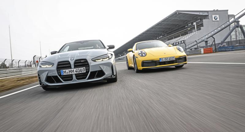 Test: zo probeert de BMW M4 de Porsche 911 van de troon te stoten