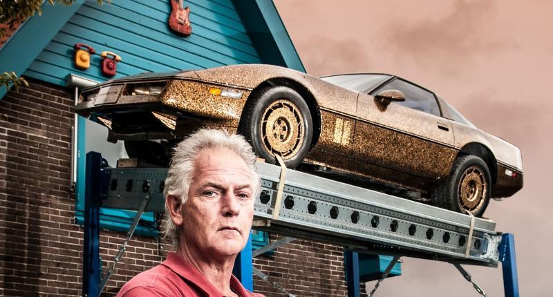 Te koop: 'beruchte' Corvette C4 van kunstenaar Frans Ouwerkerk