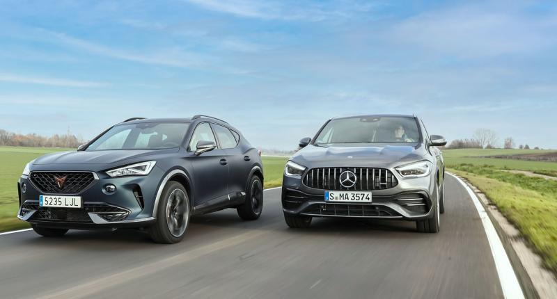 Test: zoveel kosten de Mercedes-AMG GLA 35 en Cupra Formentor per pk