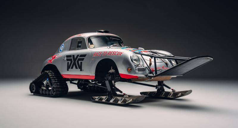 Deze klassieke Porsche gaat naar de Zuidpool! Zonder wielen ...