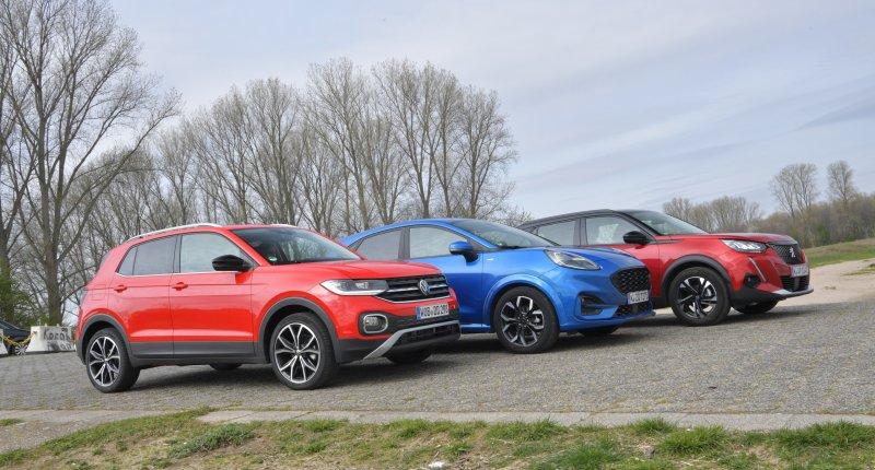 Test Ford Puma, Peugeot 2008 en Volkswagen T-Cross: waarom de ruimste niet de beste vakantieauto is