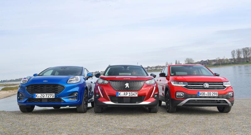 Test Ford Puma, Peugeot 2008, Volkswagen T-Cross: waarom Frans comfort niet altijd beter is